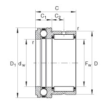 INA NKX25 complex bearings