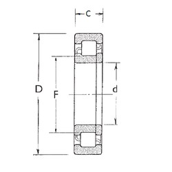 25 mm x 62 mm x 24 mm  FBJ NUP2305 cylindrical roller bearings