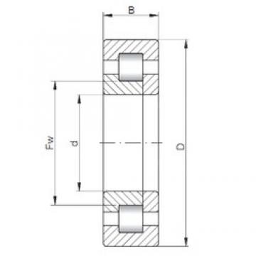 60 mm x 130 mm x 46 mm  ISO NUP2312 cylindrical roller bearings