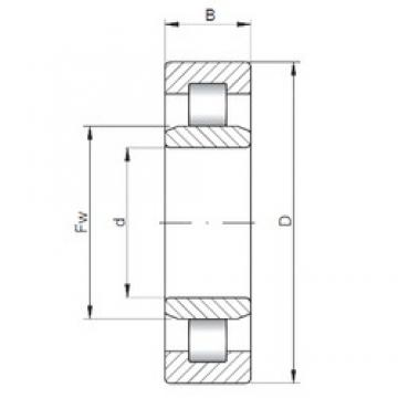 45 mm x 100 mm x 36 mm  ISO NU2309 cylindrical roller bearings