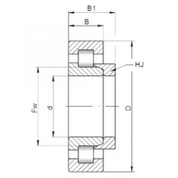 60 mm x 130 mm x 46 mm  ISO NH2312 cylindrical roller bearings