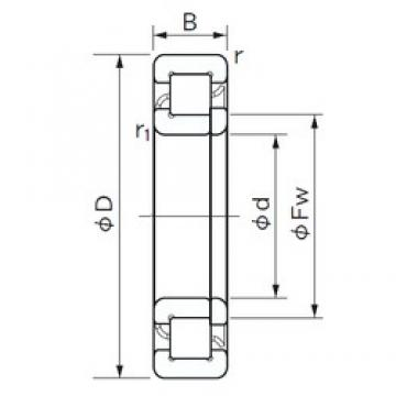 45 mm x 100 mm x 36 mm  NACHI NUP 2309 E cylindrical roller bearings