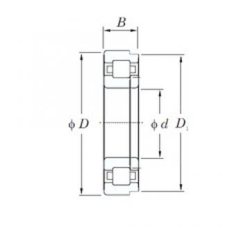45 mm x 100 mm x 36 mm  KOYO NUP2309R cylindrical roller bearings