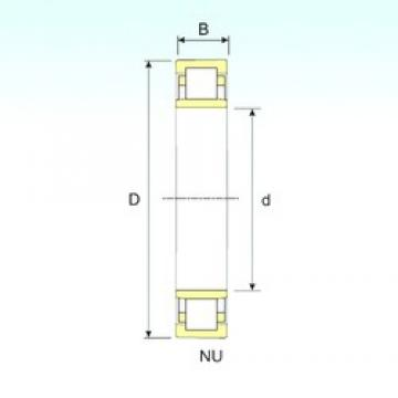 25 mm x 62 mm x 24 mm  ISB NU 2305 cylindrical roller bearings