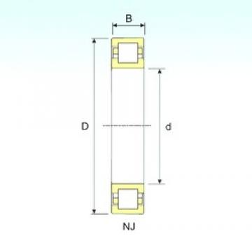 60 mm x 130 mm x 46 mm  ISB NUP 2312 cylindrical roller bearings