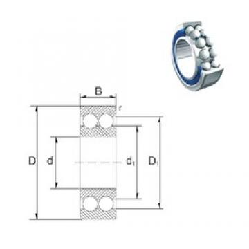 30 mm x 62 mm x 23,8 mm  ZEN S3206-2RS angular contact ball bearings